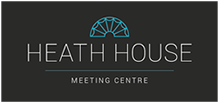 Heath House Conference Centre, Uttoxeter, Staffordshire, Logo on black