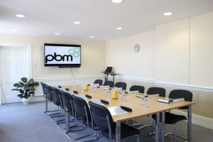 Heath House Conference Centre, Uttoxeter, Staffordshire, Bromley room set for 12 delegates