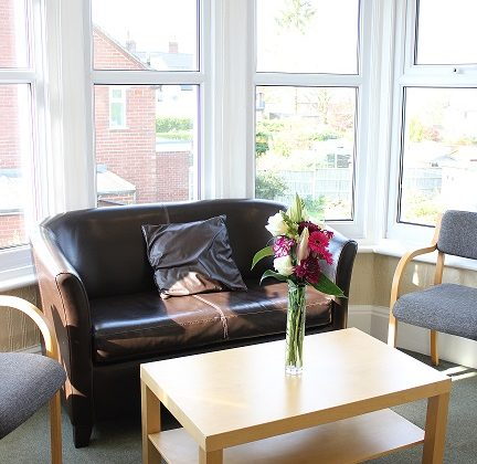 Coffee lounge in meeting room at Heath House Conference Centre, Uttoxeter