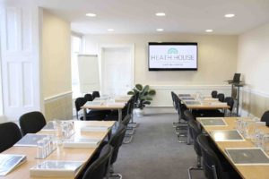 Training room at Heath House Conference Centre in Uttoxeter