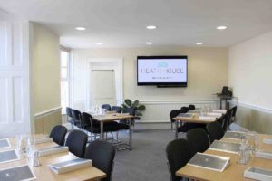 Bromley meeting room - classroom layout for a training event - Heath House Conference Centre, Uttoxeter, Staffordshire