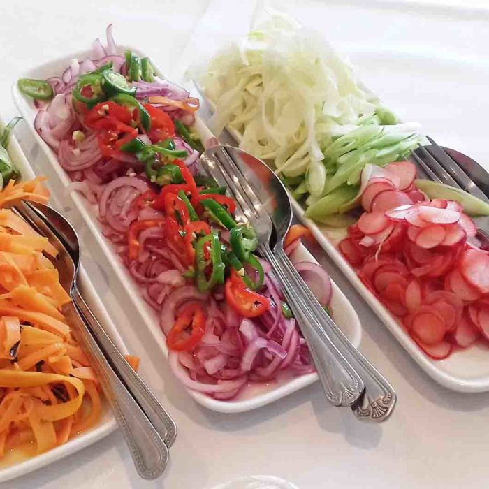 3 dishes from oriental buffet - Heath House Conference Centre, Uttoxeter, Staffordhsire