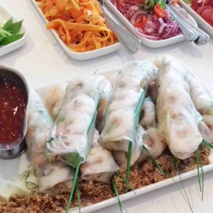 Spring rolls - Heath House Conference Centre, Uttoxeter, Staffordshire