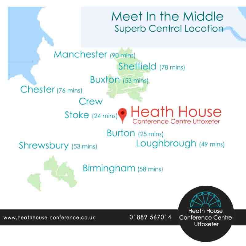 Heath House Conference Centre, Uttoxeter, Staffordshire, Meeting point, Central meeting venue