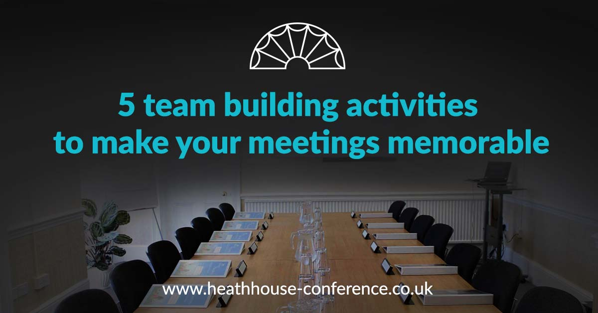Heath House Conference Centre Uttoxeter Nr Derby - 5 team building activities