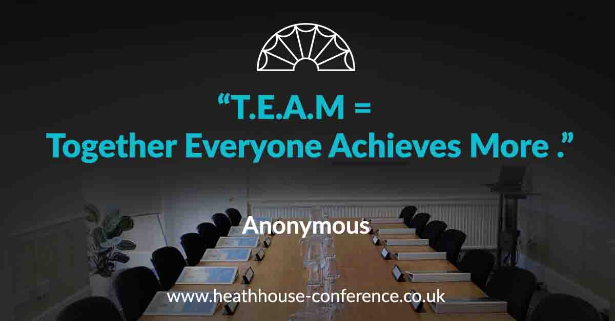 Heath House Conference Centre, Uttoxeter - Inspirational Quote