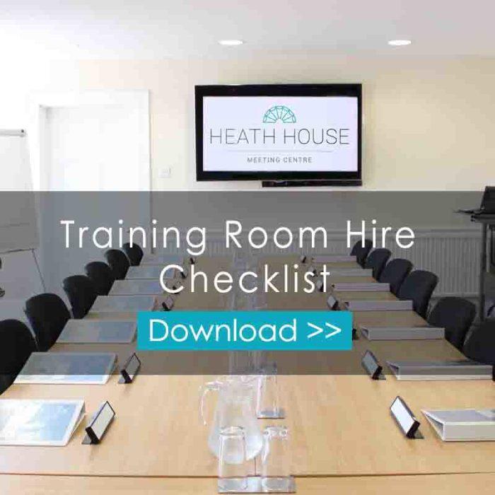 Training Room Hire Checklist