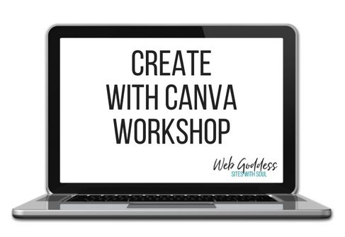 Create with canva training course graphic