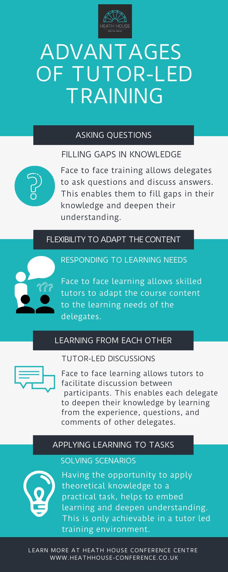 Advantages of tutor-led training