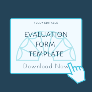 evaluation form template - button graphic