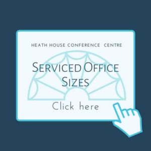 Serviced office sizes at Heath House Conference Centre