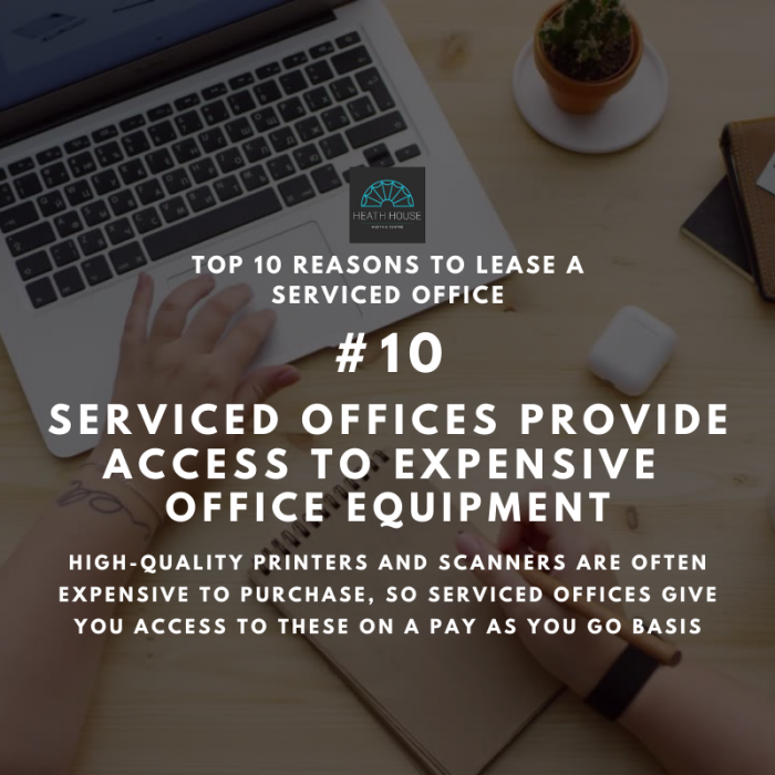10 reasons to rent a serviced office - reason 10