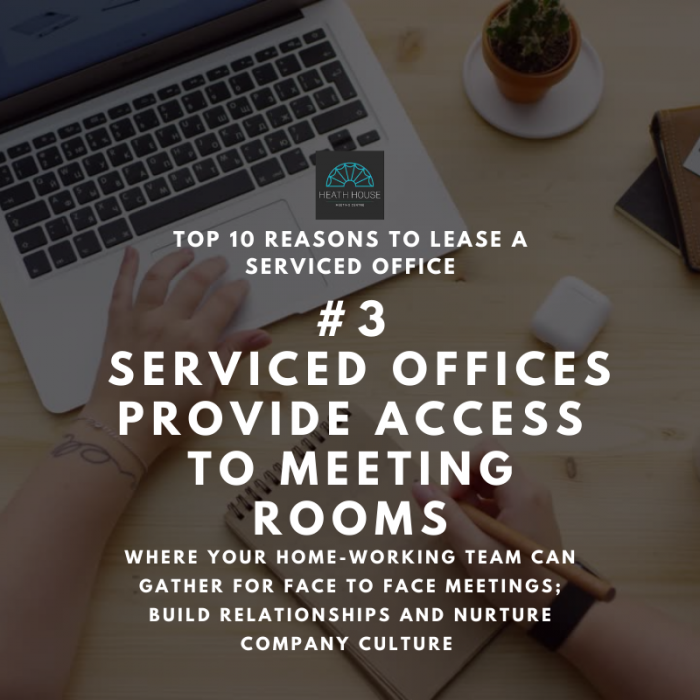 10 reasons to rent a serviced office - reason 3