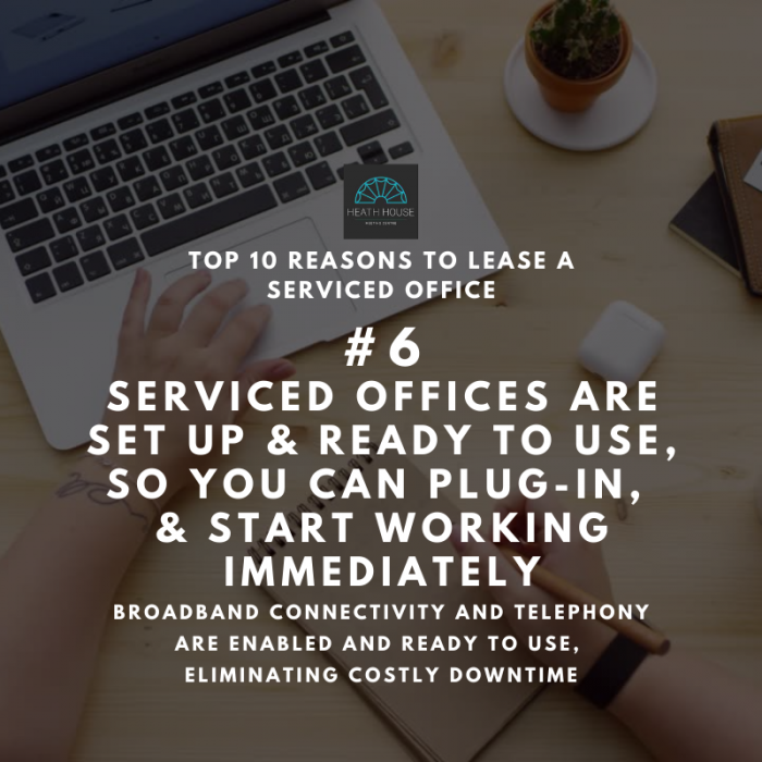 10 reasons to rent a serviced office - reason 6