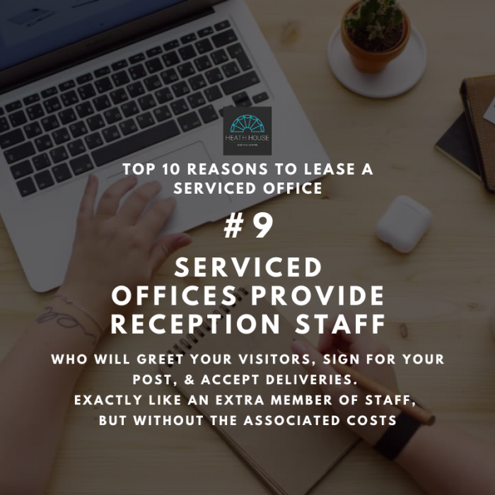 10 reasons to rent a serviced office - reason 9